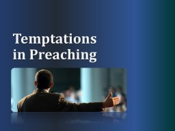 Temptations in Preaching