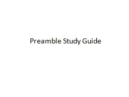 Preamble Study Guide