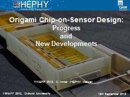 Origami Chip-on-Sensor Design: