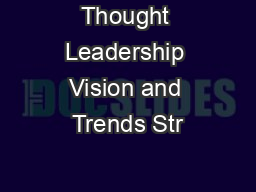 Thought Leadership Vision and Trends Str