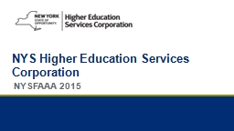 NYS  Higher Education Services
