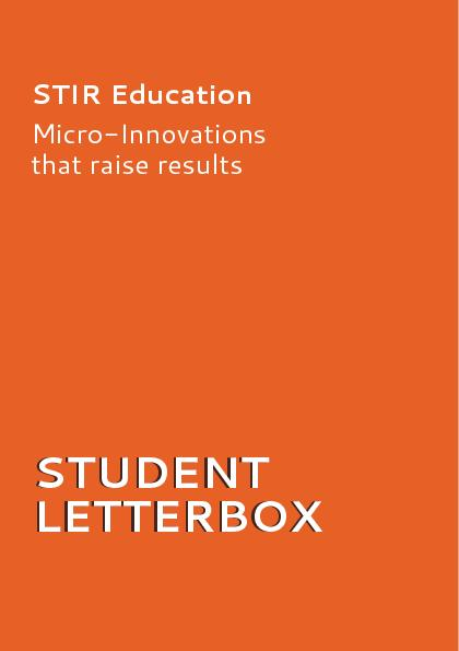 STUDENT LETTERBOX STUDENT STIR EducationMicro-Innovationsthat raise re