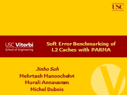 Soft Error Benchmarking of