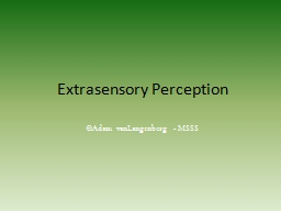 Extrasensory Perception