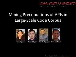 Mining Preconditions of APIs in Large-Scale Code Corpus