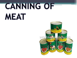 CANNING OF MEAT PowerPoint PPT Presentation