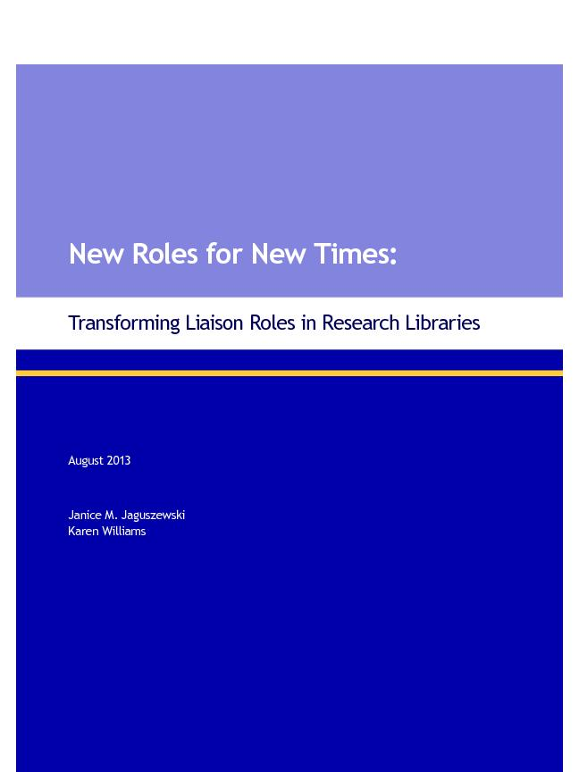 New Roles for New Times: