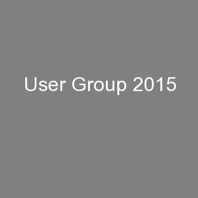 User Group 2015
