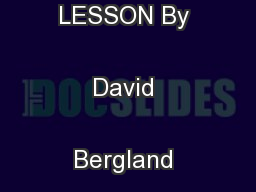 LIBERTARIANISM IN ONE LESSON By David Bergland Fifth Edition 1990  ...