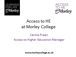 Access to HE