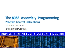 The 8086 Assembly Programming