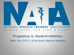 Pregnancy in Student-Athletes