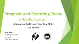 Pregnant and Parenting Teens