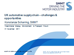 UK automotive supply chain – challenges & opportuniti