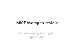 MICE hydrogen review PowerPoint PPT Presentation
