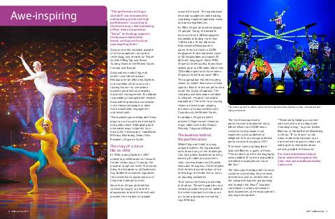 real business    real business  The performers in Cirque du Soleil are renowned for exhilarating stunts and high performance according to Christa Carone chief marketing ofcer Xerox Corporation