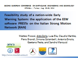 SECOND EUROPEAN CONFERENCE ON EARTHQUAKE ENGINEERING AND SE