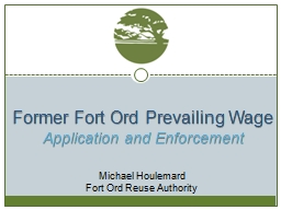 Former Fort Ord Prevailing Wage