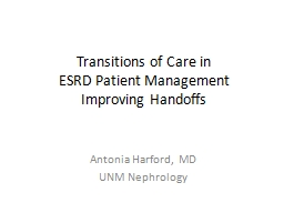 Transitions of Care in