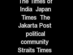 FXLXSOFPGVUSMJOOFNFOU XJUJFJMFNNPGVUSMJOFPG FJPOMJN POF  The Times of India  Japan Times  The Jakarta Post  political community  Straits Times  cultural  The Ten Conditions of Love  The Pacific Revie PowerPoint PPT Presentation