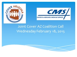 Joint Cover AZ Coalition Call