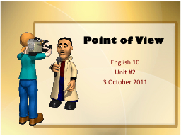 Point of View PowerPoint PPT Presentation
