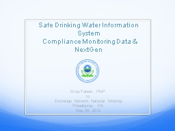 Safe Drinking Water Information System