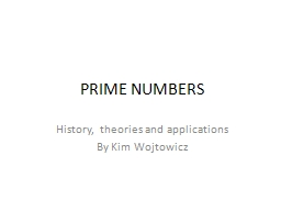PRIME NUMBERS PowerPoint PPT Presentation