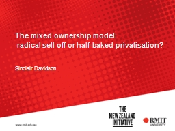 The mixed ownership model