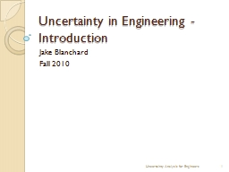 Uncertainty in Engineering - Introduction PowerPoint Presentation, PPT - DocSlides