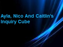 Ayla, Nico And Caitlin's Inquiry Cube