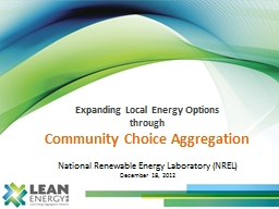Expanding Local Energy Options PowerPoint PPT Presentation