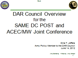 DAR Council Overview PowerPoint PPT Presentation