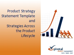 Product Strategy Statement Template