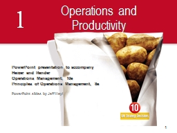1 Operations and Productivity PowerPoint PPT Presentation