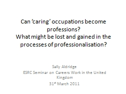Can 'caring' occupations become professions?