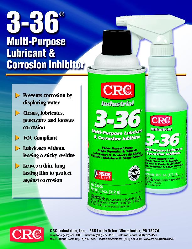 Prevents corrosion by