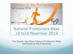 National Professions Week