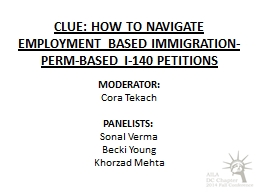 CLUE: How to navigate employment based