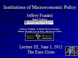 Institutions of Macroeconomic Policy
