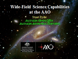 Wide-Field Science Capabilities at the AAO