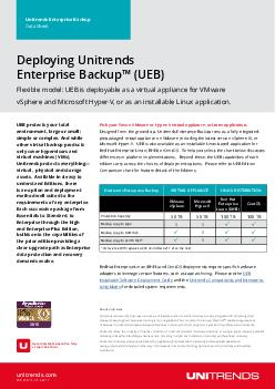 Unitrends Enterprise Backup Datasheet PART  DSENGE www