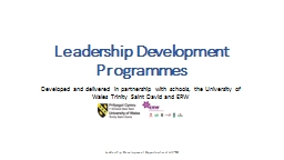 Leadership Development Programmes