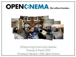 Enterprising Community Libraries PowerPoint PPT Presentation