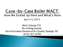 Case-by-Case Boiler MACT: PowerPoint PPT Presentation