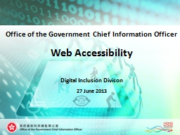 Web Accessibility PowerPoint PPT Presentation