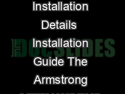 CEILING SYSTEMS Between us ideas become reality METAWORKS Baffles Installation Details  Installation Guide The Armstrong METALWORKS Baffle ceiling system is made up of extruded aluminium Baffle profi