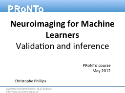 Neuroimaging for Machine Learners