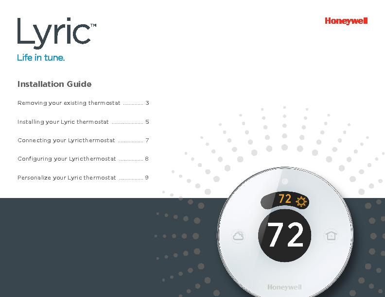 Installation GuideRemoving your existing thermostat Installing your Ly