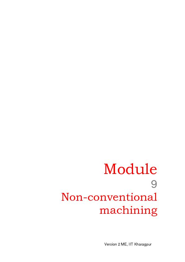 Non-conventional machining